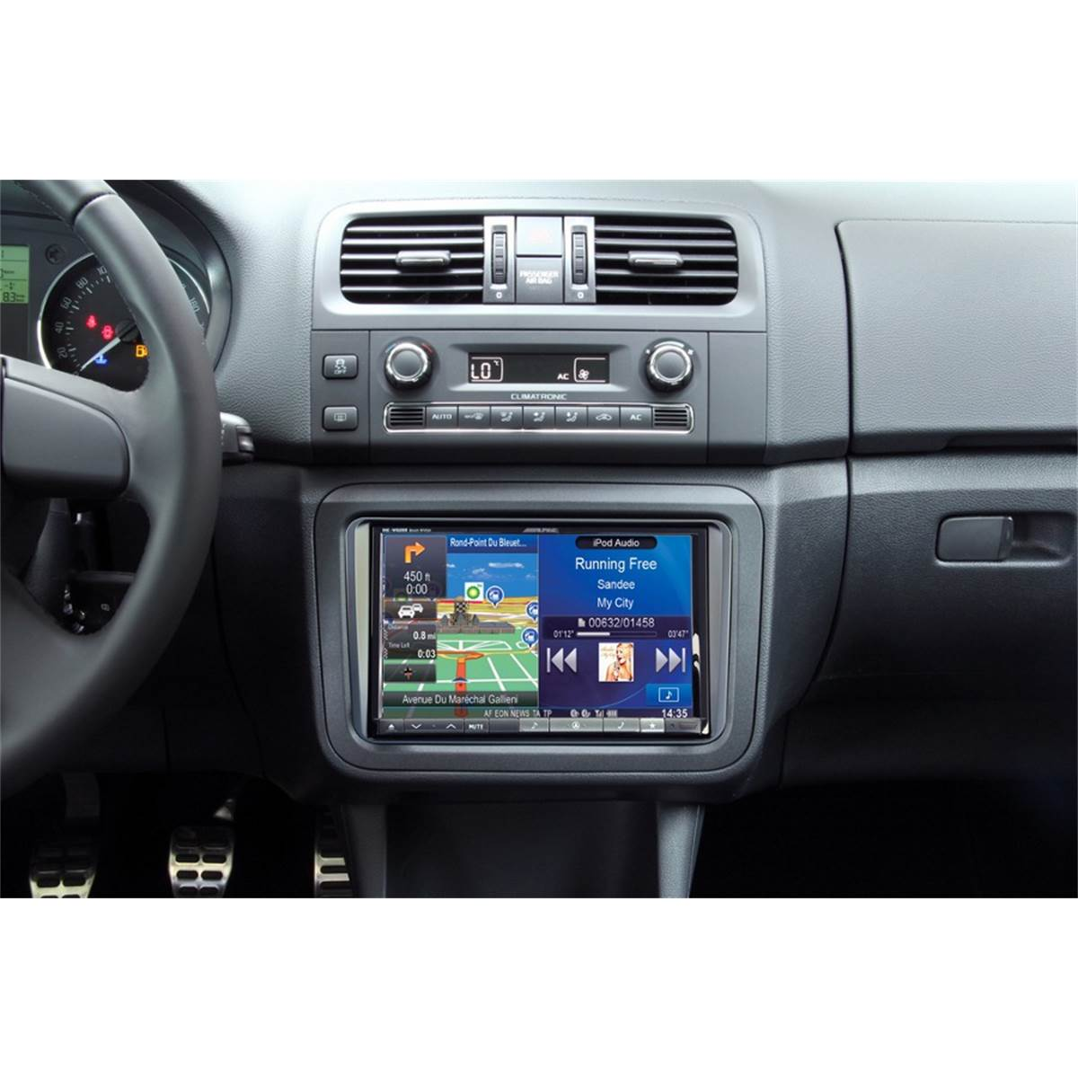 Kit d'intégration autoradio 2DIN Alpine INE-W928R Volkswagen/Seat/ Skoda