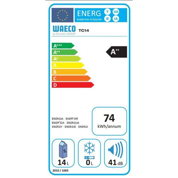 glaci re thermo lectrique 12 24 230v waeco tropicool 14l a feu vert. Black Bedroom Furniture Sets. Home Design Ideas