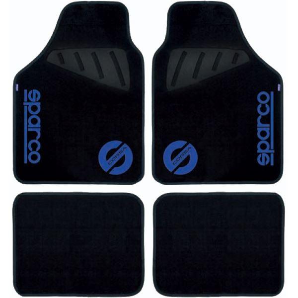 4 Tapis Voiture Avec Logo Bleu L 39 Avant Sparco Feu Vert