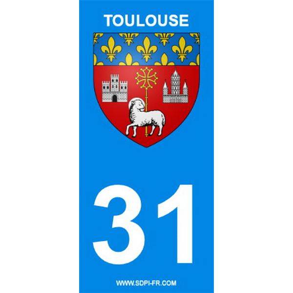 2 Stickers voiture Toulouse 31