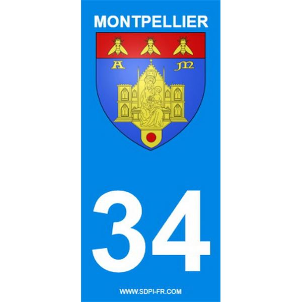 2 Stickers voiture Montpellier 34