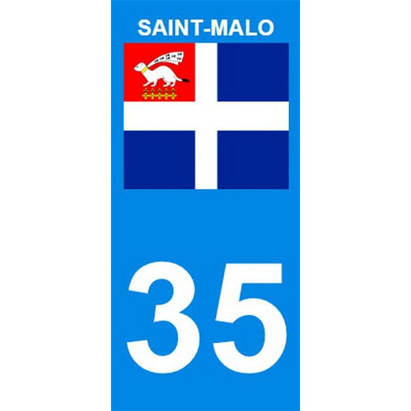 2 Stickers voiture Saint-Malo 35