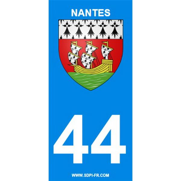 2 Stickers voiture Nantes 44
