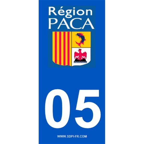 2 Stickers voiture Paca 05