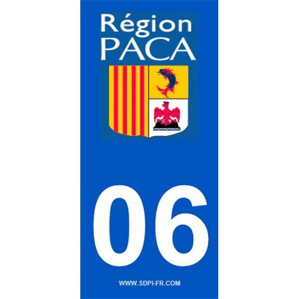 2 Stickers voiture Paca 06