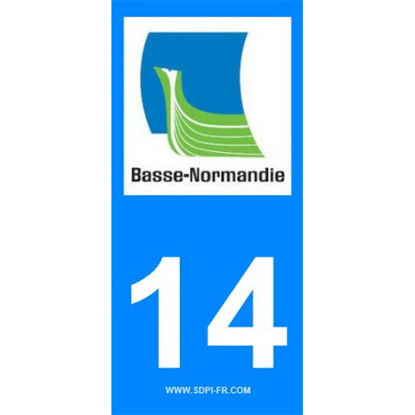 2 Stickers voiture Basse Normandie 14