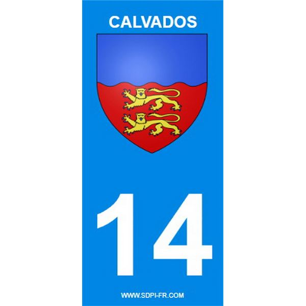 2 Stickers voiture Calvados 14