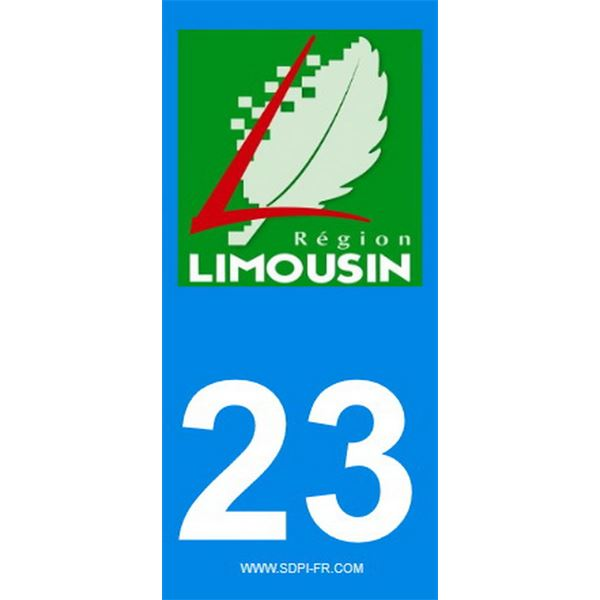 2 Stickers voiture Limousin 23