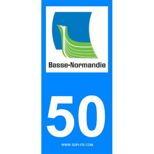 2 Stickers voiture Basse Normandie 50