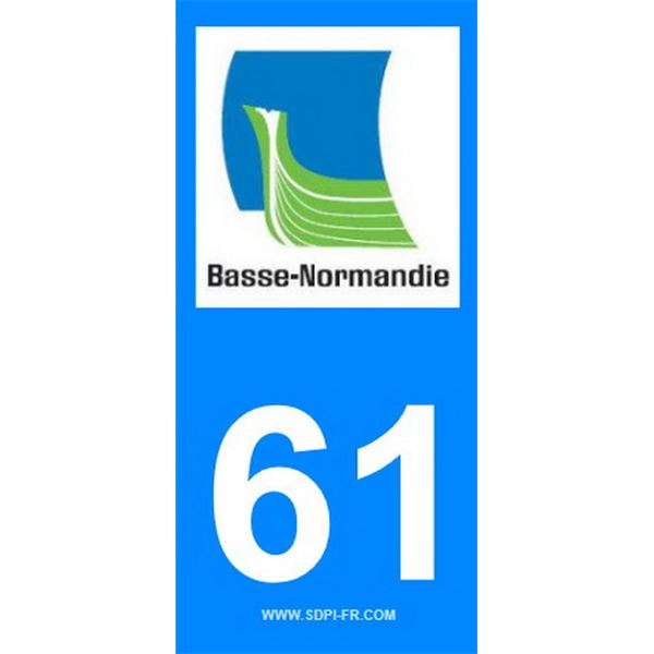 2 Stickers voiture Basse Normandie 61