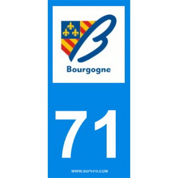 2 Stickers voiture Bourgogne 71