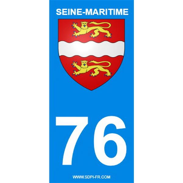2 Stickers voiture Seine Maritime 76
