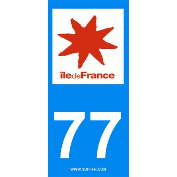 2 Stickers voiture Ile De France 77