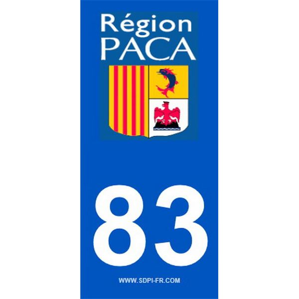 2 Stickers voiture Paca 83