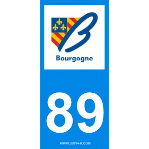 2 Stickers voiture Bourgogne 89