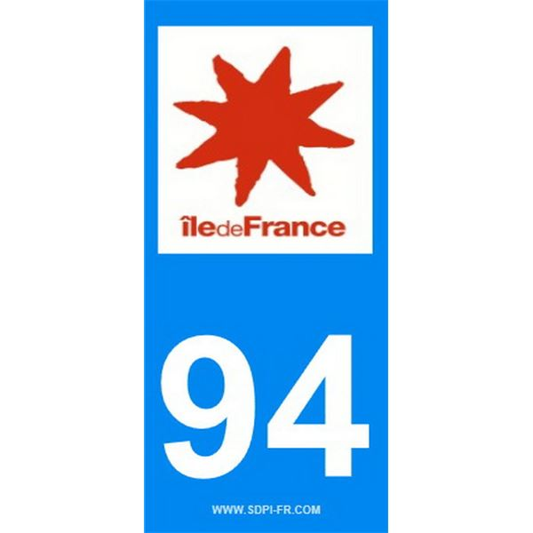 2 Stickers voiture Ile De France 94