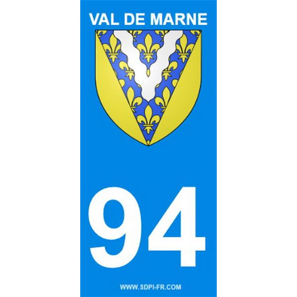 2 Stickers voiture Val De Marne 94
