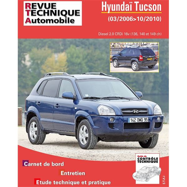 Revue Technique Automobile pour Tucson Break 2.0 CRDI de 09/2004 à 10/2010