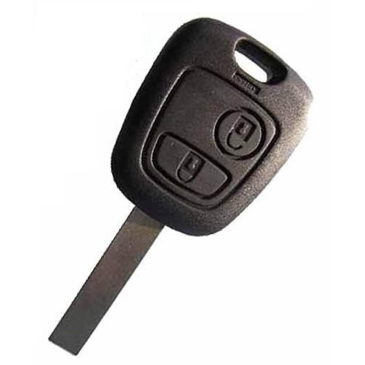 Coque de clé adaptable pour PSA 406, 607 2 boutons