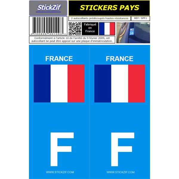 2 stickers voiture france drapeau feu vert. Black Bedroom Furniture Sets. Home Design Ideas