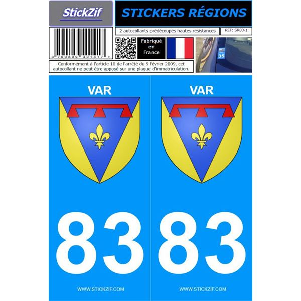 2 Stickers voiture Var 83