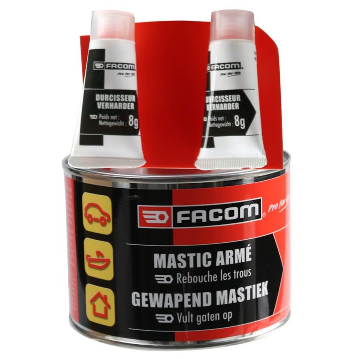 Mastic polyester armé Facom 600 g