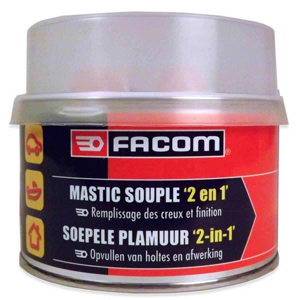 Mastic polyester souple Facom 500 g