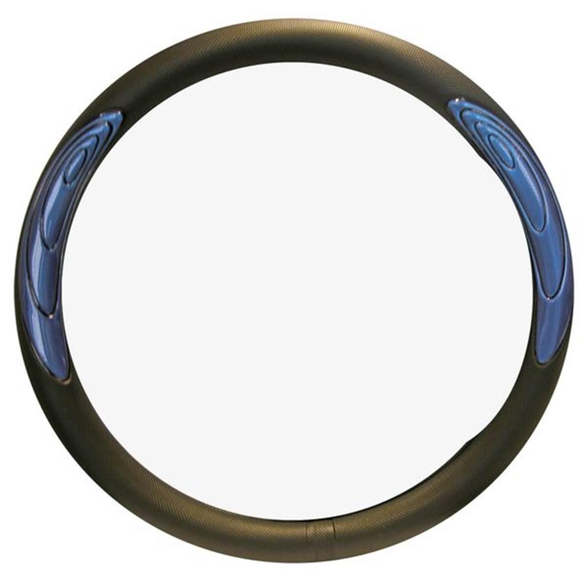Couvre-volant noir décor bleu Tuning Effect