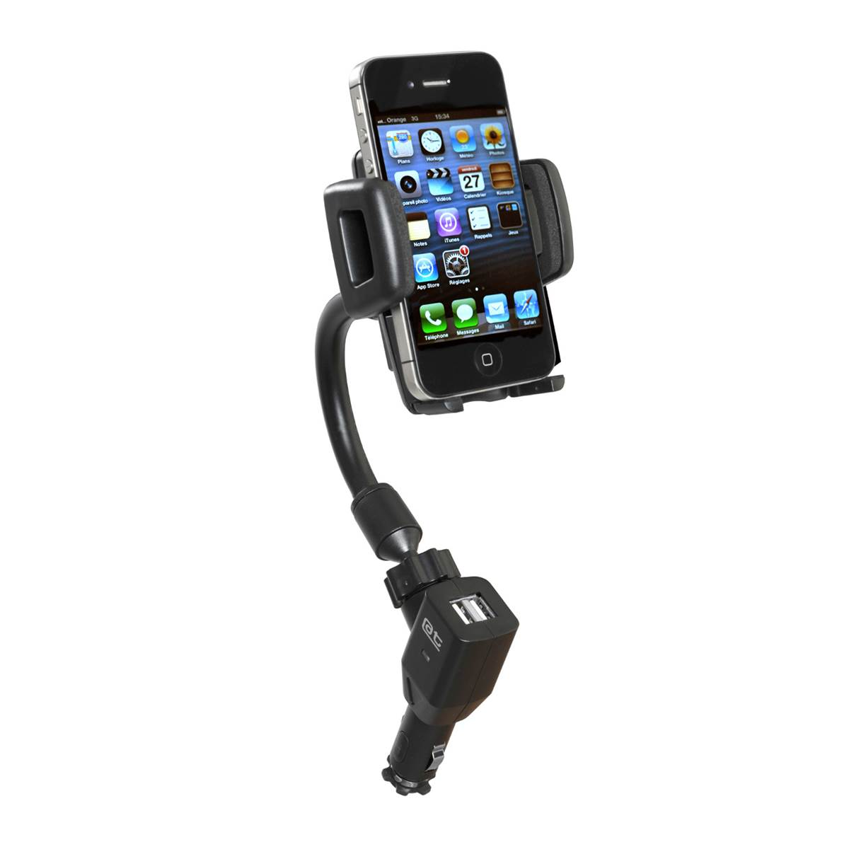 Support actif orientable pour smartphones/GPS Auto-T