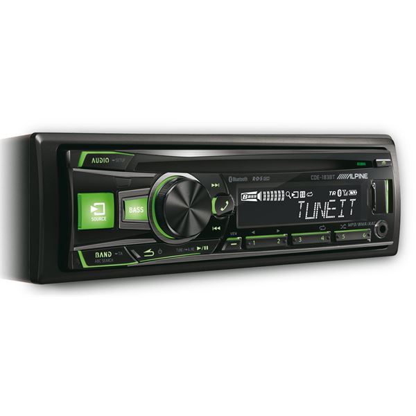 autoradio bluetooth alpine cde 183bt feu vert. Black Bedroom Furniture Sets. Home Design Ideas