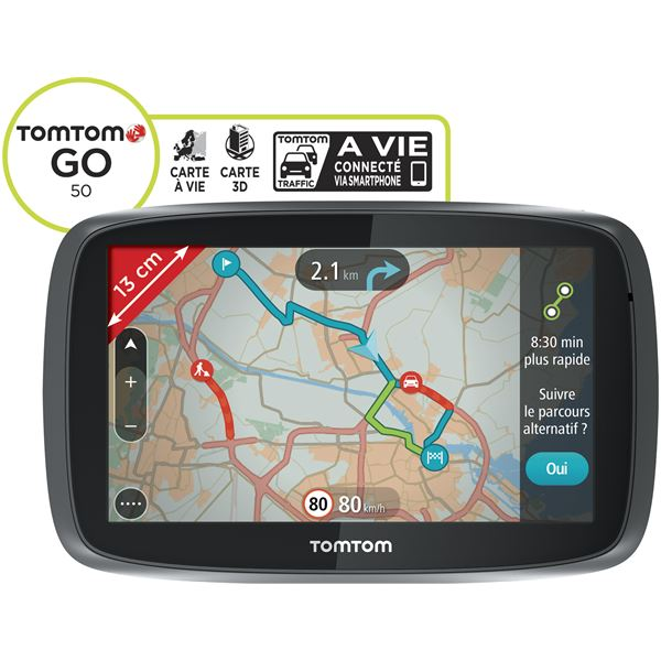 gps tomtom go 50 europe 45 pays feu vert. Black Bedroom Furniture Sets. Home Design Ideas