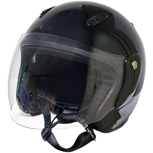 casque moto jet eole noir verni taille s 55 56 cm feu vert. Black Bedroom Furniture Sets. Home Design Ideas