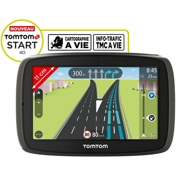 gps tomtom start 40 45 pays info trafic tmc feu vert. Black Bedroom Furniture Sets. Home Design Ideas