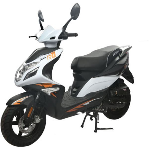scooter 50 cc 4t r8 blanc noir thermique eurocka feu vert. Black Bedroom Furniture Sets. Home Design Ideas