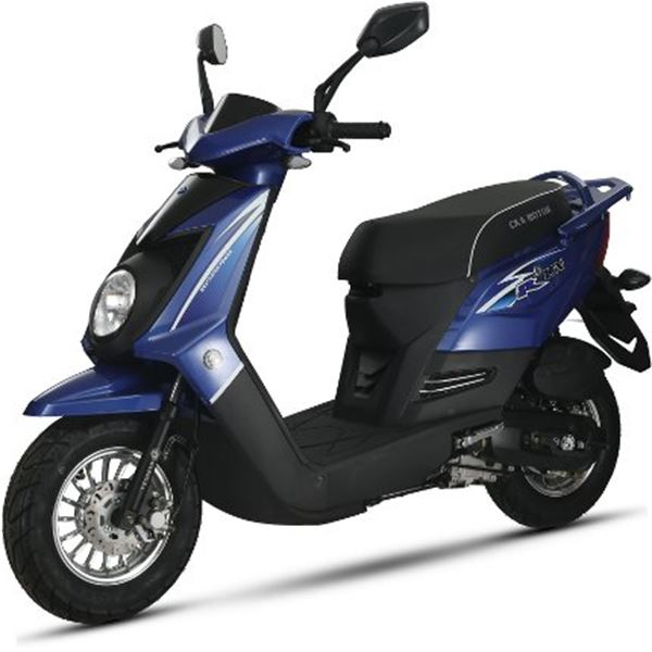 scooter 50 cc 4t q one bleu thermique eurocka feu vert. Black Bedroom Furniture Sets. Home Design Ideas