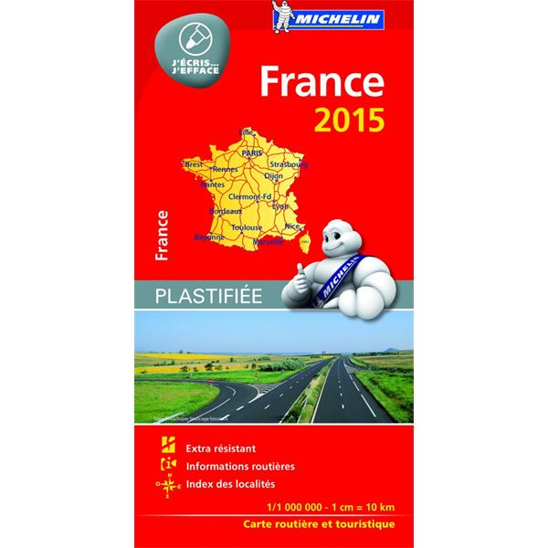 Carte de France 100% Plastifiée 2015 Michelin