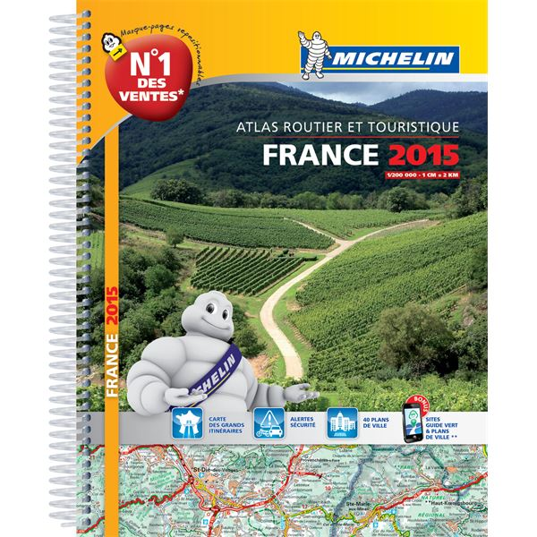 Atlas routier à spirale France 2015 Michelin