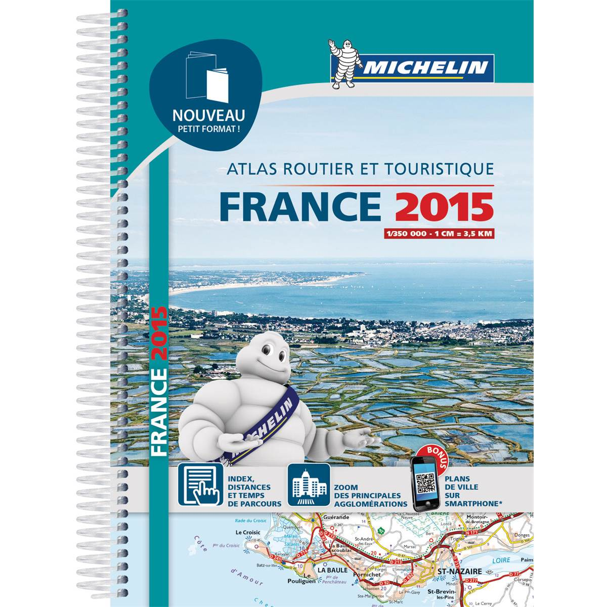 Atlas routier petit format France 2015 Michelin
