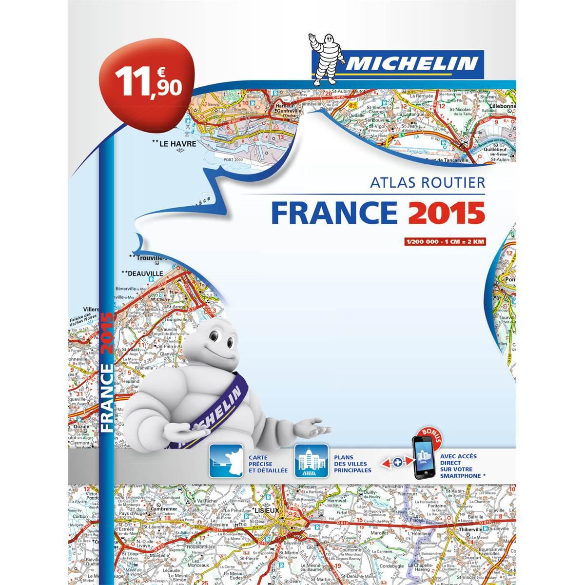 Atlas routier broché France 2015 Michelin