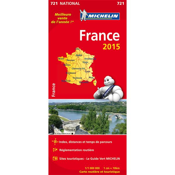 Carte de France 2015 Michelin
