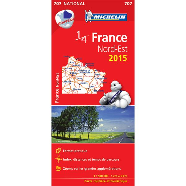 Carte de France Nord-Est 2015 Michelin