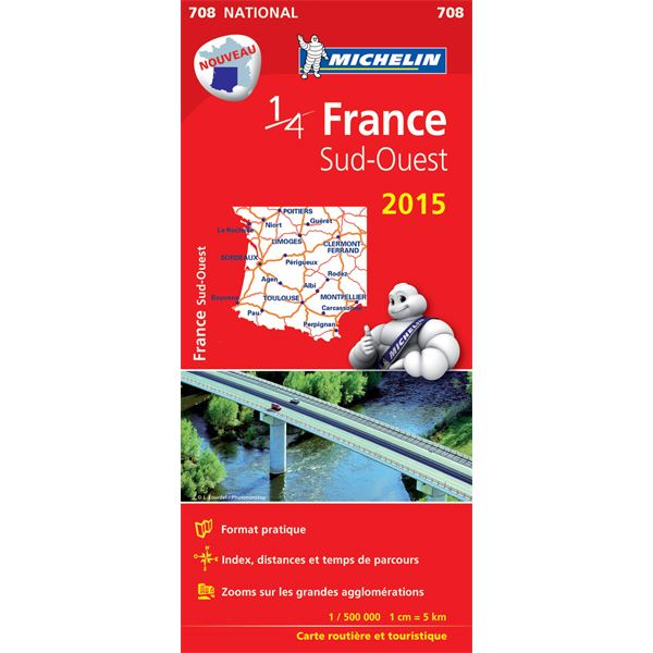 Carte de France Sud-Ouest 2015 Michelin