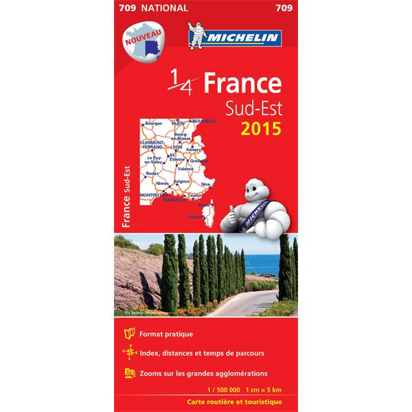 Carte de France Sud-Est 2015 Michelin