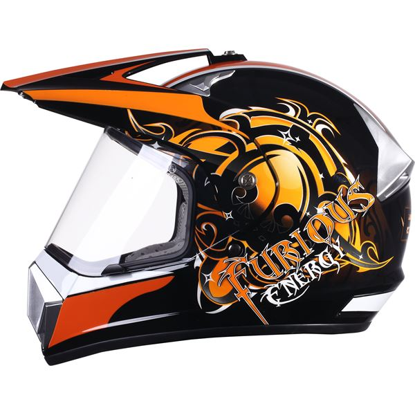 Casque moto cross Furious Eole taille S