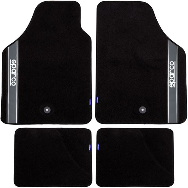 4 tapis moquette universels Sparco