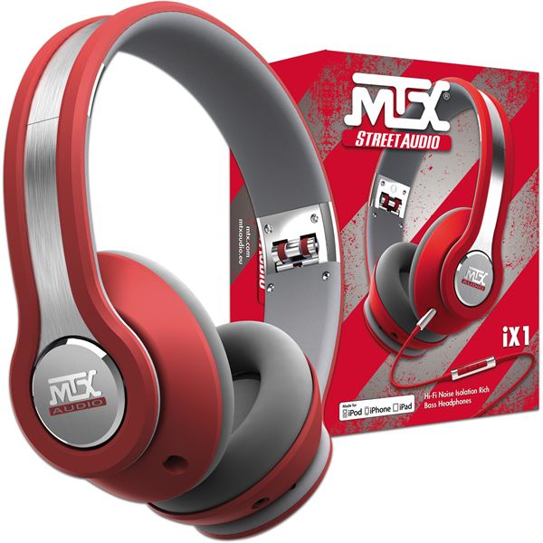CASQUE AUDIO MTX IX1 ROUGE