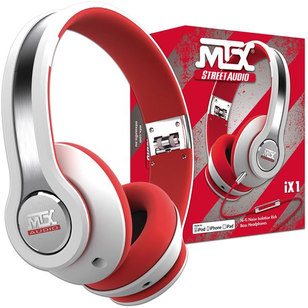 CASQUE AUDIO MTX IX1 BLANC