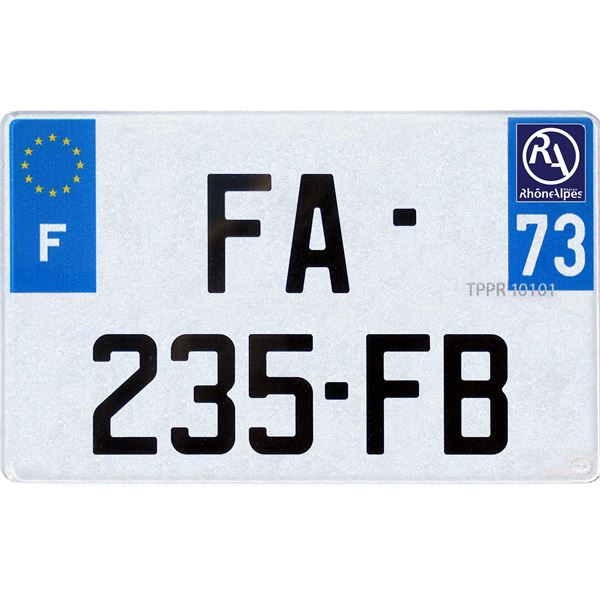 plaque immatriculation plastique 210 x 130 mm d partement 83 feu vert
