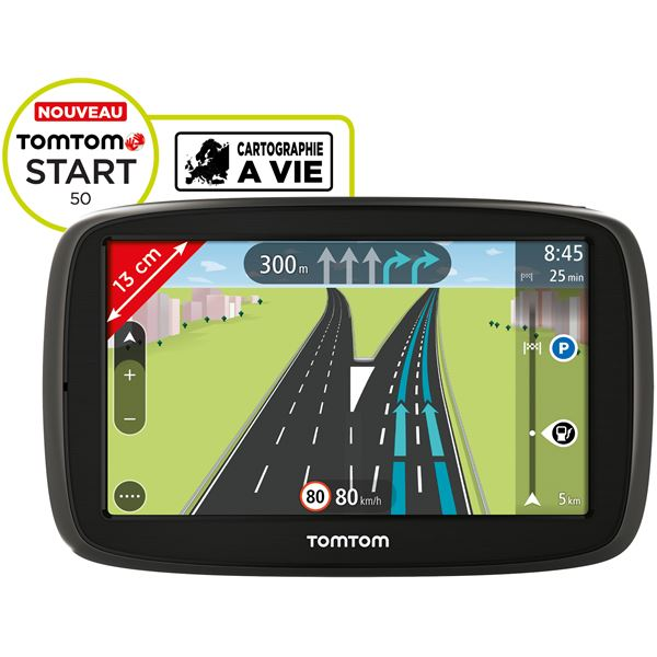 GPS TomTom Start 50  Europe 23 pays + Carte mise à jour d'un 1 an des Zones de Danger