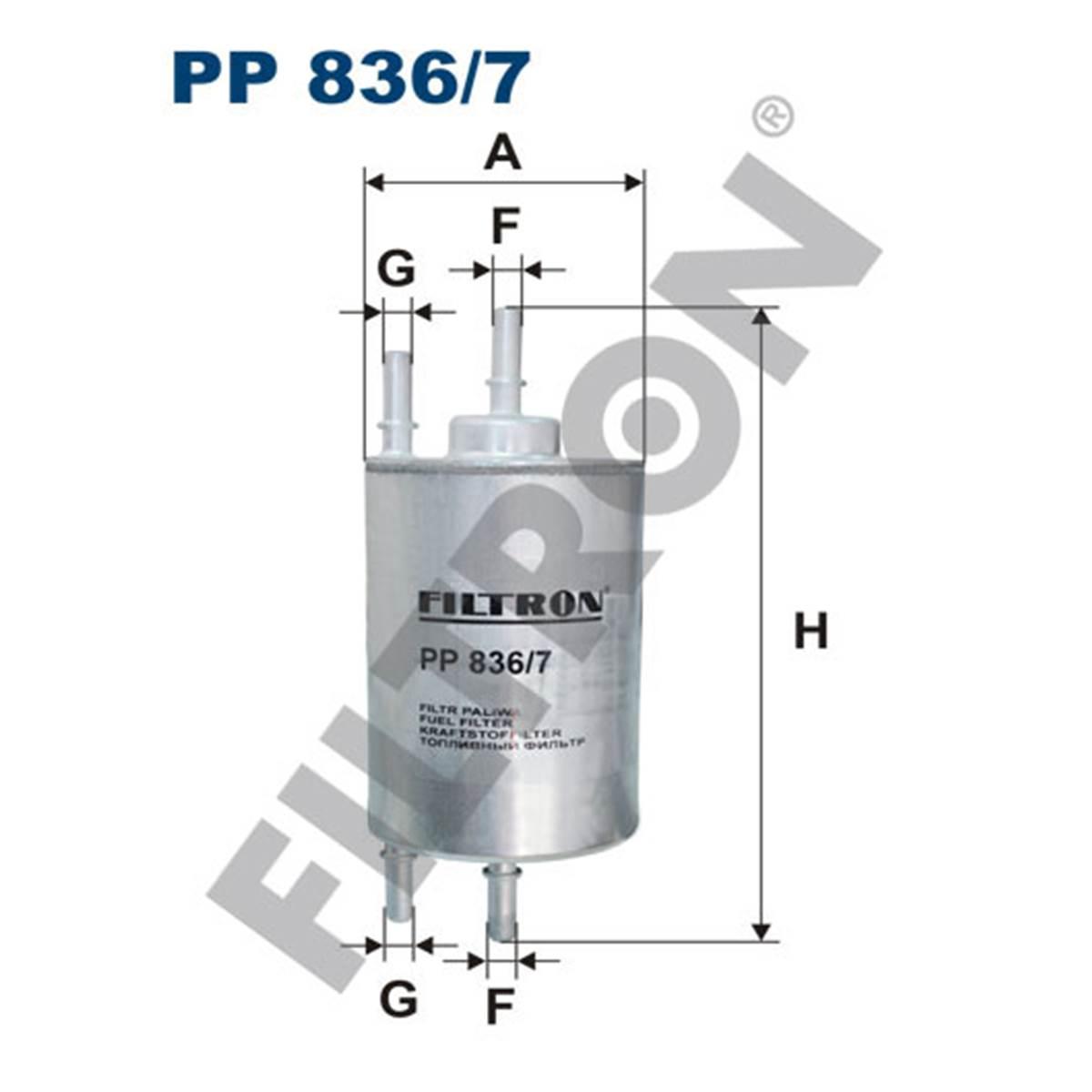 Filtre à gasoil Filtron PP836/7